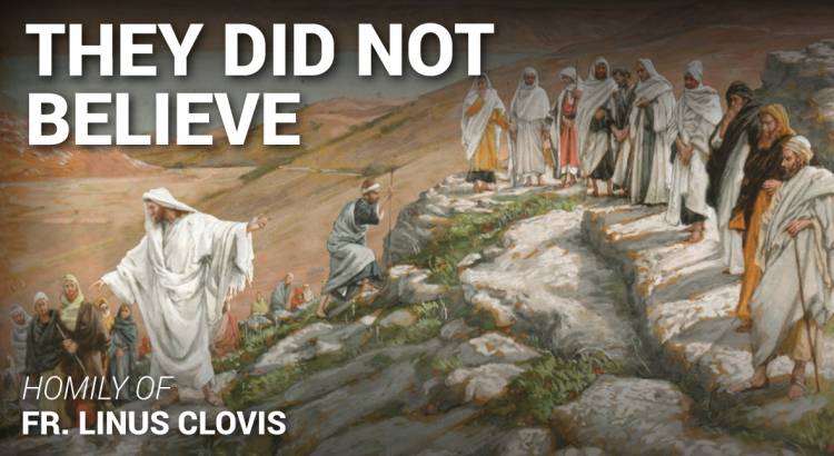They did not believe ~ Fr. Linus Clovis